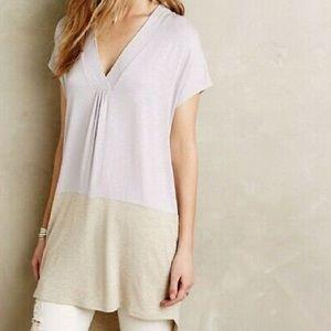 Dolan | White & Heather Grey Colorblock Tunic